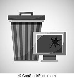 garbage bin technology broken