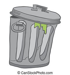 garbage can cartoon illustration