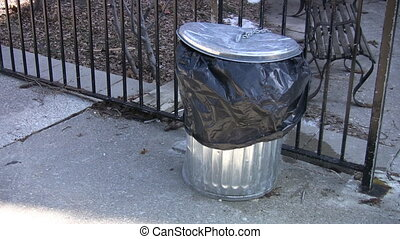 Garbage can.