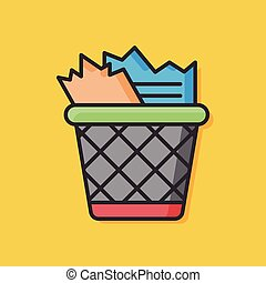 garbage can vector icon
