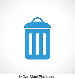 Garbage can vector icon isolated on white background