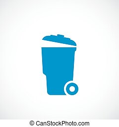 Garbage can vector icon on white background