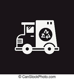 garbage car icon