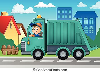Garbage Collection Truck Theme Image 2