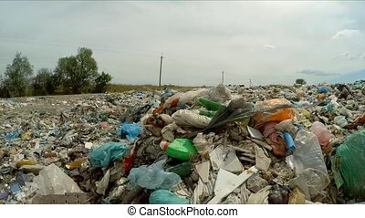 Garbage Dumped Into Huge Heap At Landfill In Ukraine