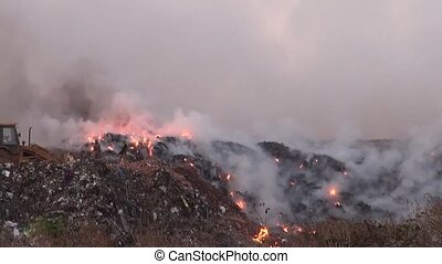 Garbage dumping and burning in Bangaluru