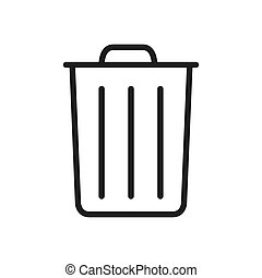 Garbage icon vector. Simple garbage sign in modern design style for web site and mobile app. EPS10