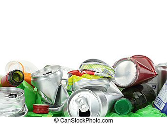 Garbage isolated on white background