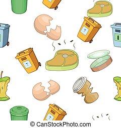 Garbage pattern, cartoon style