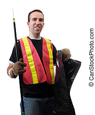 Garbage Picker - Garbage picker is cleaning up the streets ...