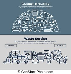 Garbage recycling and waste sorting prmotional Internet...