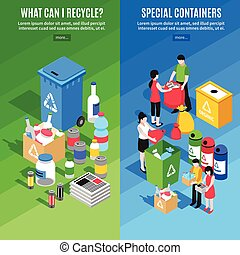 Garbage Recycling Vertical Banners