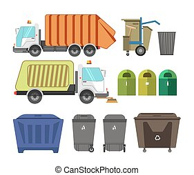 Garbage removal service dumpsters dustcarts machinery...