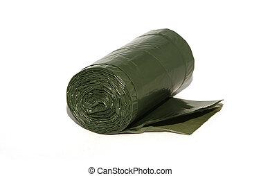 new green garbage sacks