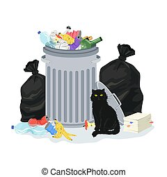 garbage stack illustration