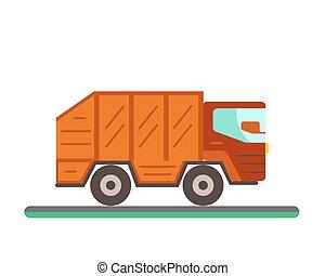 Garbage truck illustration.