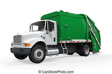 Garbage Truck Isolated - Garbage Truck isolated on white ...