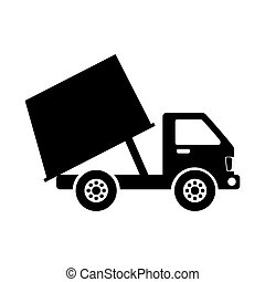 garbage truck isolated icon