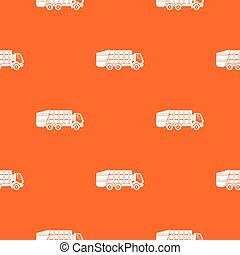Garbage truck pattern seamless