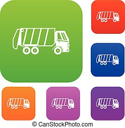 Garbage truck set collection