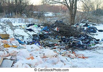 garbage., umwelt, verunreinigung