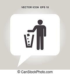 garbage vector icon