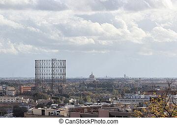 Garbatella overview in Rome