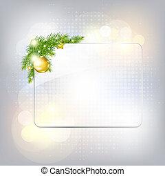 gard, vetro, cornice, anno, nuovo, argento