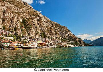Garda Lake, Riviera dei Limoni, Italy.