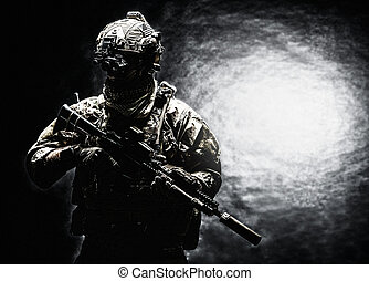 garde forestier, uniformes, armée, champ