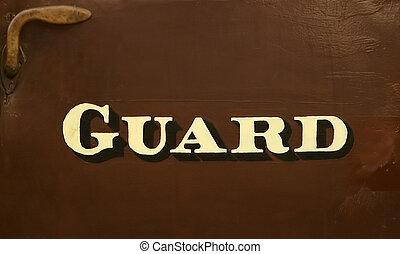 garde, signe