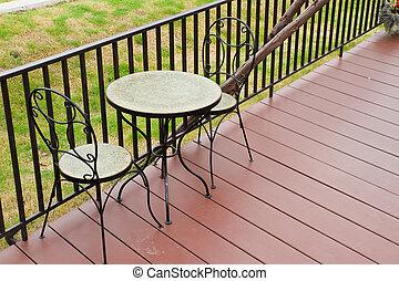 garden., テーブル, コーヒー