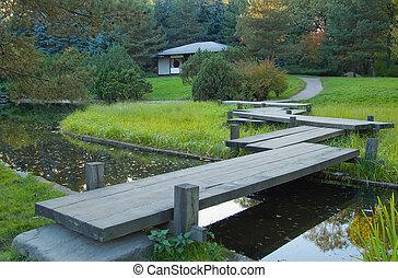 garden., 早く, autumn., 日本語, コーナー