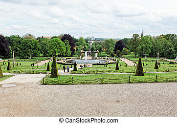 garden at Sanssouci Palace in Potsdam Germany on UNESCO...