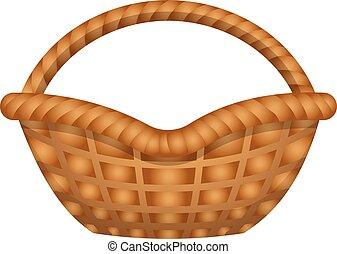 Garden basket icon, cartoon style