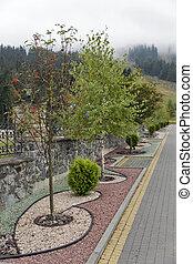 Garden bed in Carpathian mountains