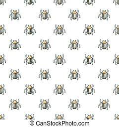 Garden beetle bug pattern seamless