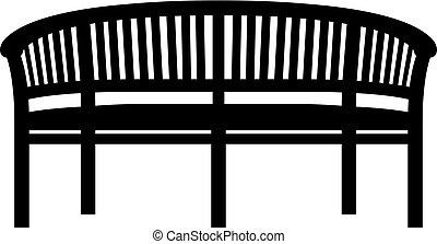 Garden bench icon
