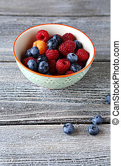 garden berries in a bowl