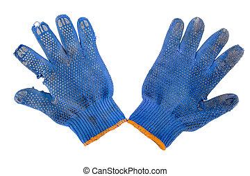 garden blue gloves