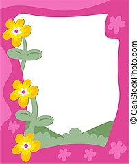 Garden Border - Floral garden page border design. Useful for...