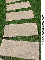 garden brick path