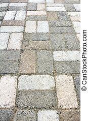 Garden Brick Pavers Walkway Closeup