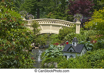 Garden Bridge - A pedestrian bridge in the public gardens of...