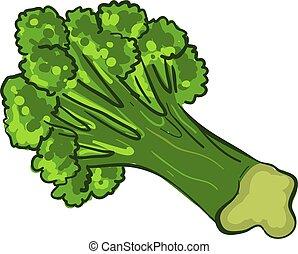 Garden broccoli icon, cartoon style