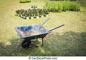 garden cart for planting palnt and flower in the garden