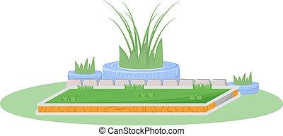 Garden cartoon vector illustration