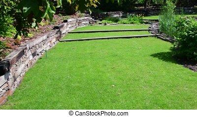 Garden center in the spring time. Horticulture. 4K