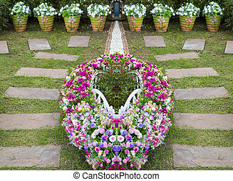 garden., chůze