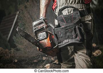 Garden Chainsaw Mechanical Saw Job Industrial